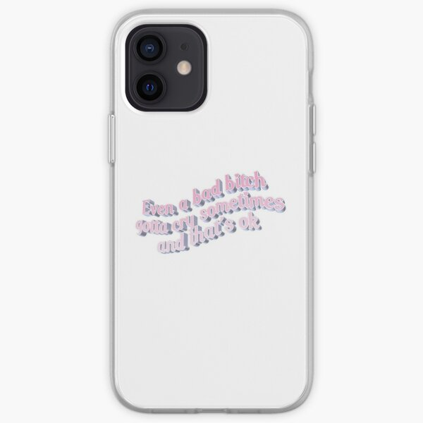 BAD BITCH CRY Coque souple iPhone
