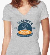Watney's martian survival camp Women's Fitted V-Neck T-Shirt