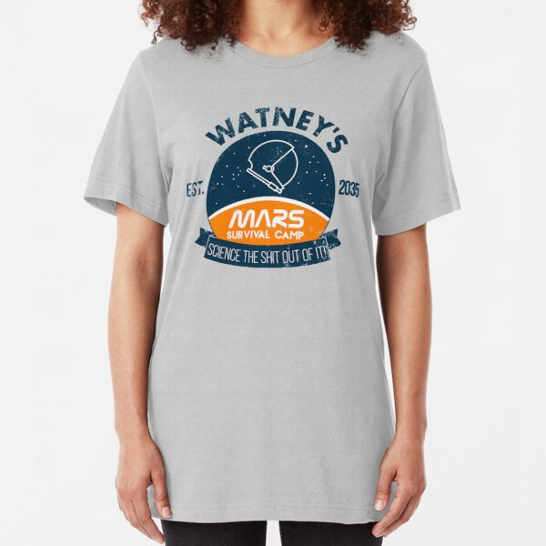 Watney's martian survival camp Slim Fit T-Shirt