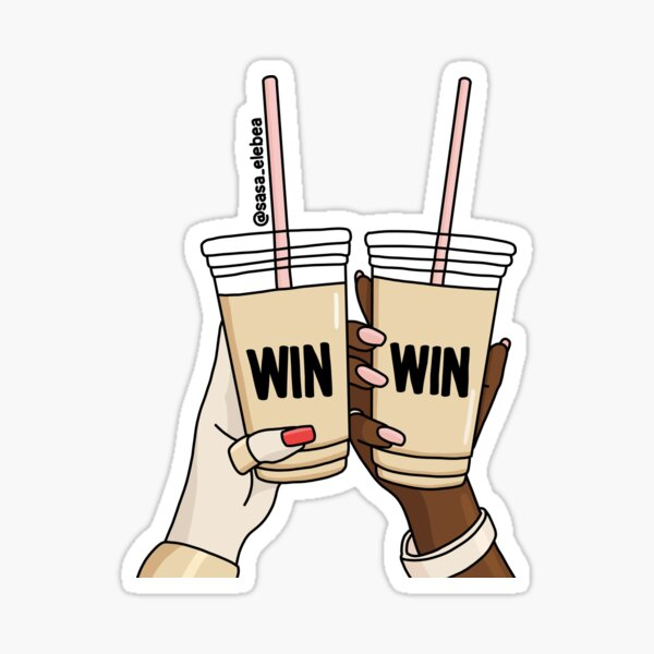 Win win by Sasa Elebea Sticker