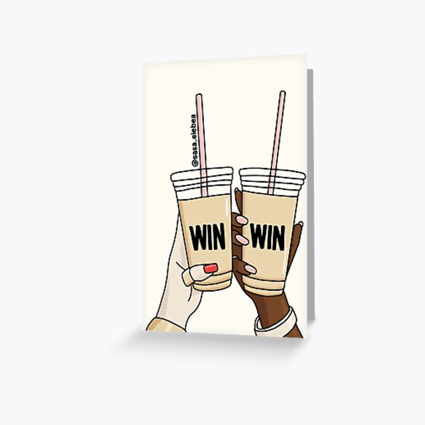 Win win by Sasa Elebea Greeting Card