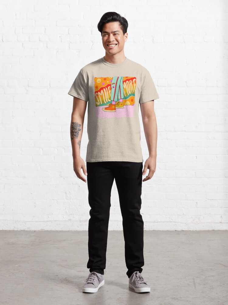 Alternate view of Smile More Classic T-Shirt