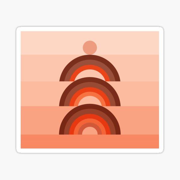 Abstraction_RAINBOW_GEOMETRIC_Minimalism_002 Sticker