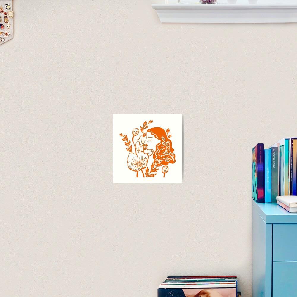 Blooming Lady-Orange Art Print