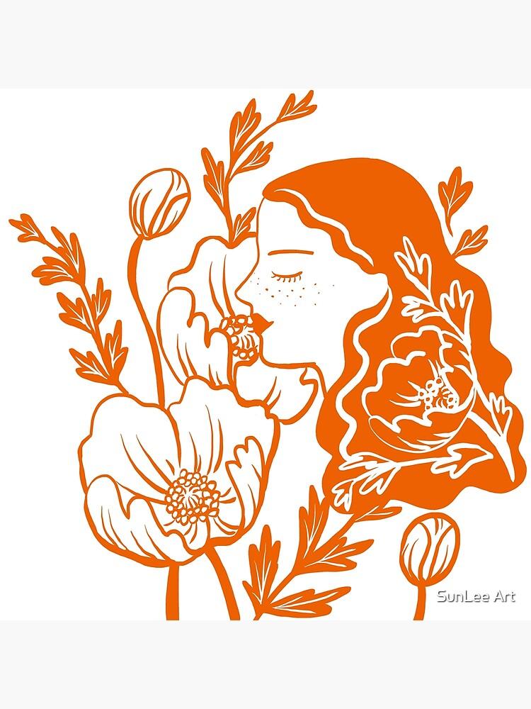 Blooming Lady-Orange by sunleeart