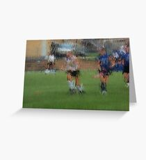 091611 120 0 pointillist field hockey dust Greeting Card