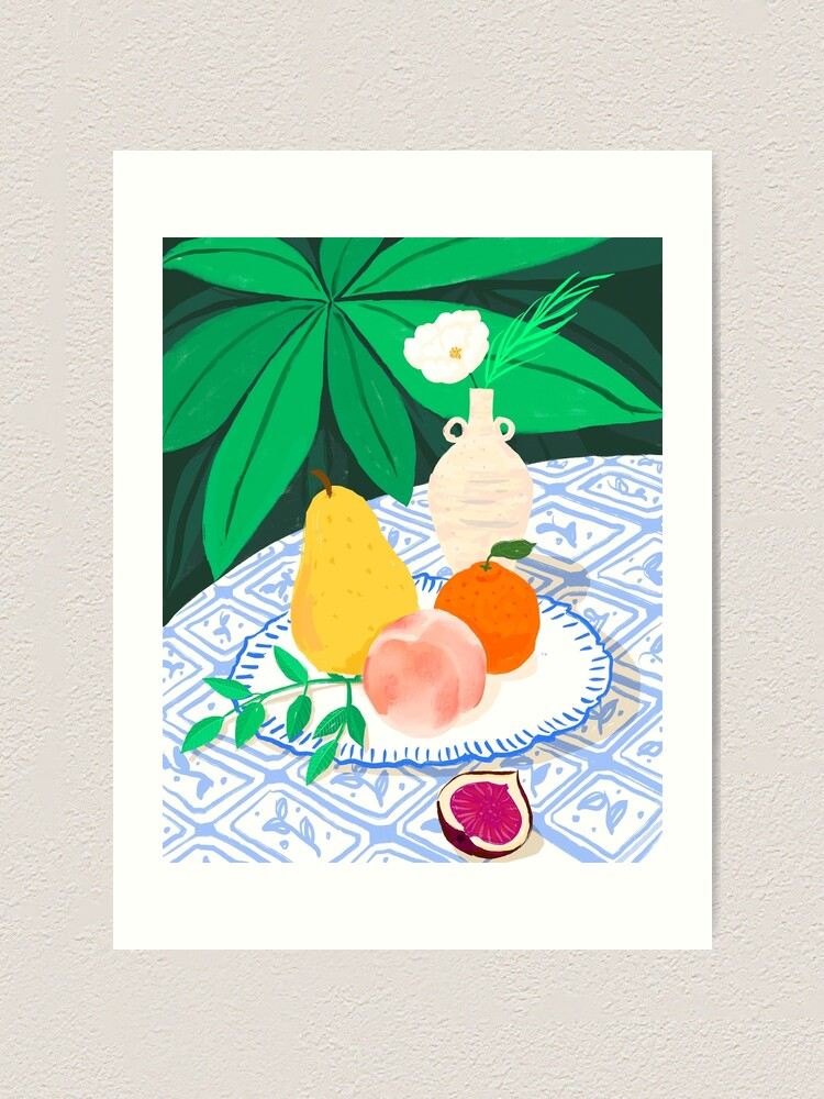 Alternate view of Fruits and Flower Art Print