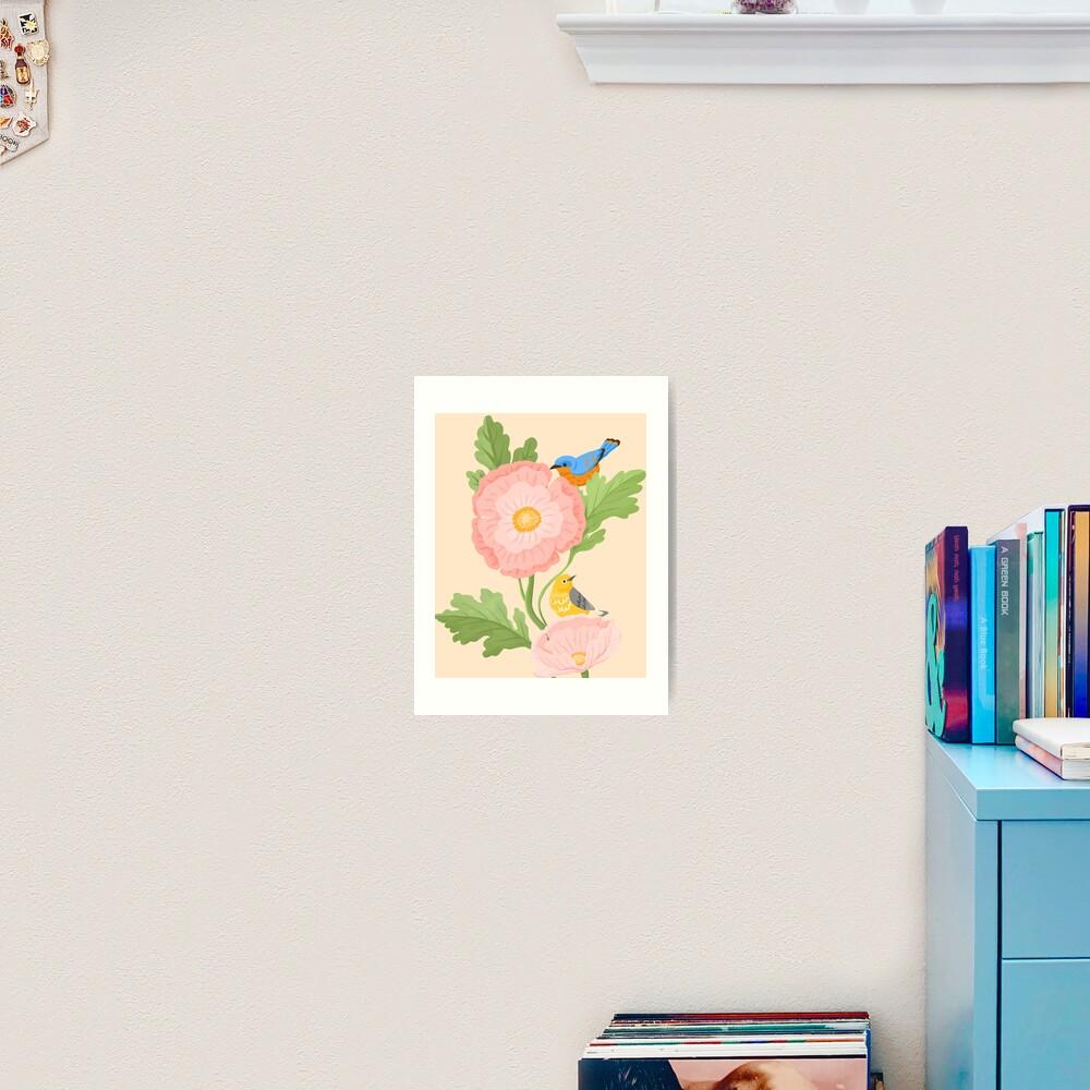 Poppy and Little Friends Art Print