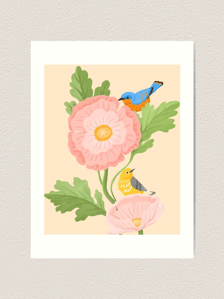 Alternate view of Poppy and Little Friends Art Print