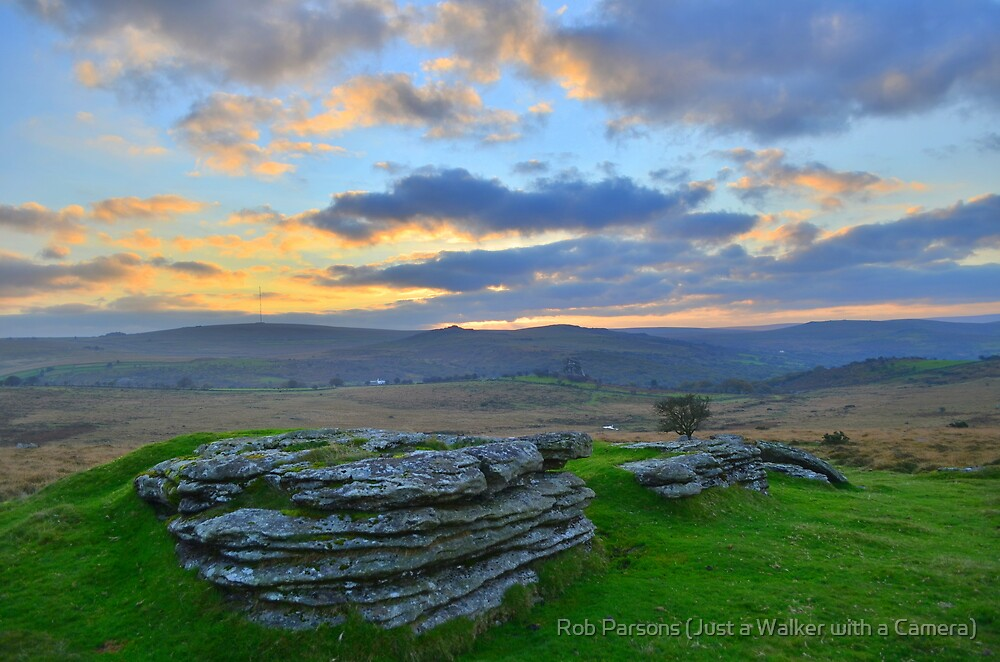 Dartmoor: Early Morning at Barn Hill Rocks by Robert parsons