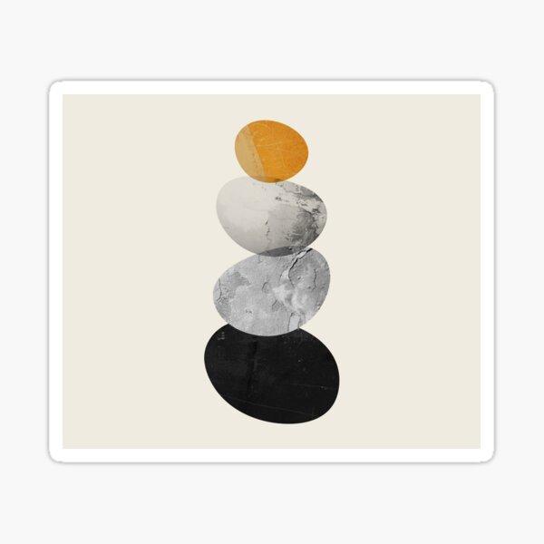 Abstraction_ROCK_BALANCE_YOGA_Minimalism_002A Sticker