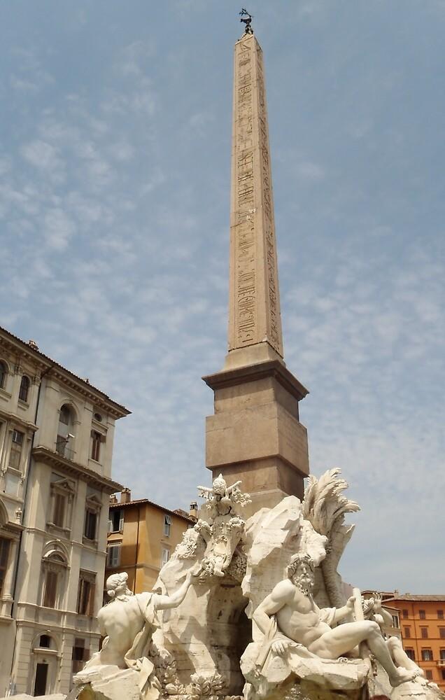 Fontana dei Fiumi - Italy by clarebearhh