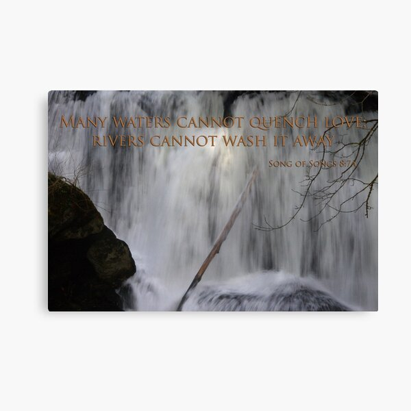 whatcom falls face with song of songs 8:7 Canvas Print