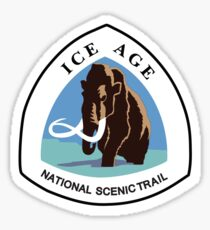 Ice Age Trail Sign, USA Sticker
