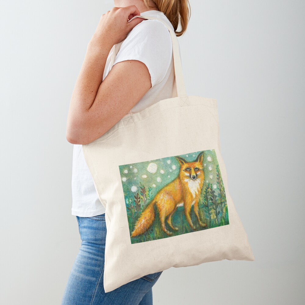 Portrait of Wise Fox, Wildlife art Tote Bag