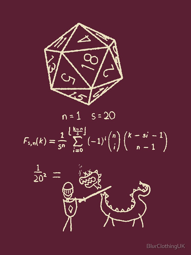 The Science Of The 20 Sided Dice by BlurClothingUK