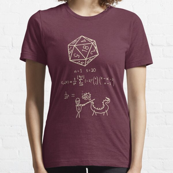The Science Of The 20 Sided Dice Essential T-Shirt