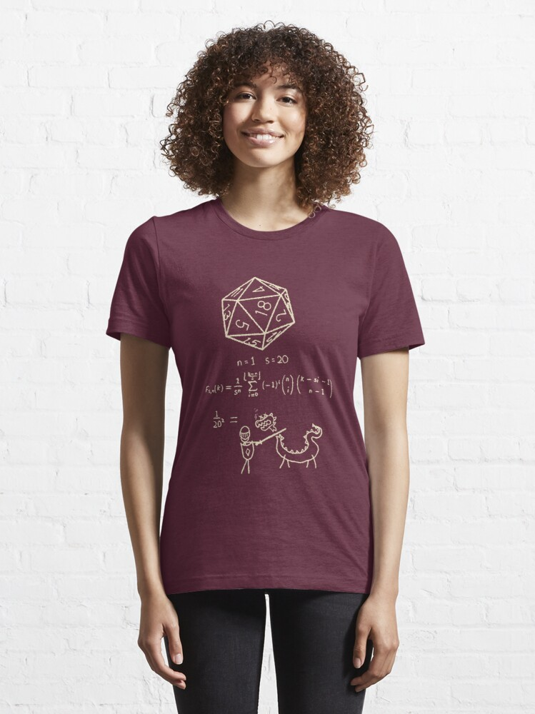 Alternate view of The Science Of The 20 Sided Dice Essential T-Shirt