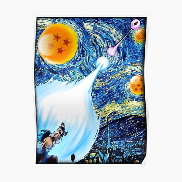 Poster Dragon Ball Z Starry Night ( Van gogh) Poster