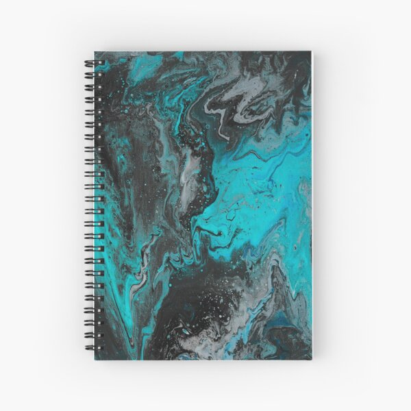 Waves of Turquoise Spiral Notebook