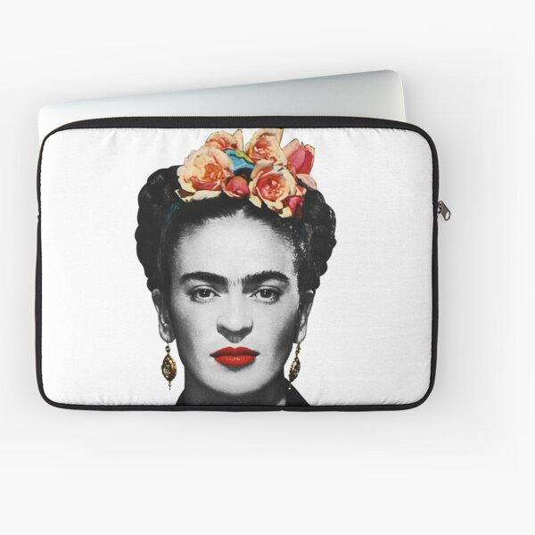 Frida Kahlo Portrait Black And White Laptop Sleeve