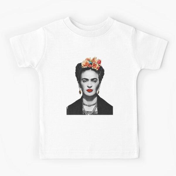 Frida Kahlo Portrait Black And White Kids T-Shirt