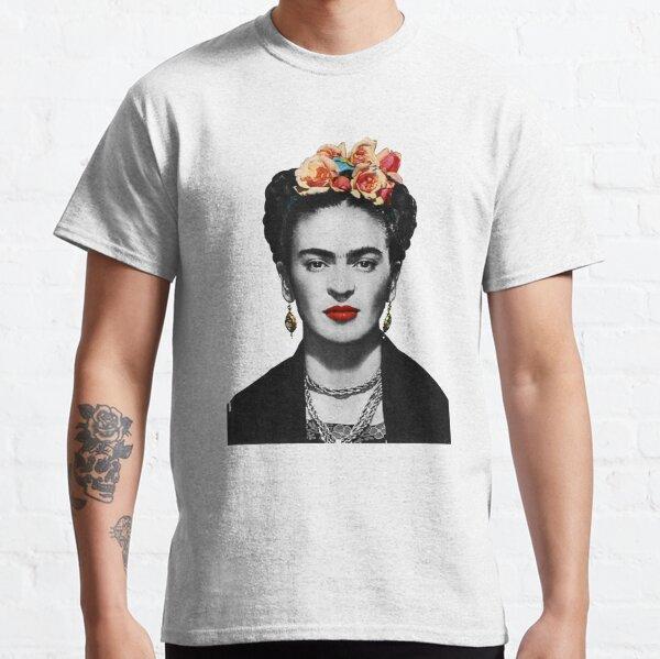 Frida Kahlo Portrait Black And White Classic T-Shirt