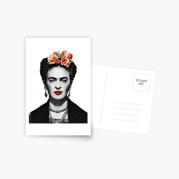 Frida Kahlo Portrait noir et blanc Carte postale