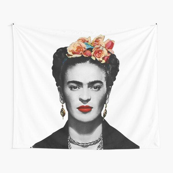 Frida Kahlo Portrait Black And White Tapestry