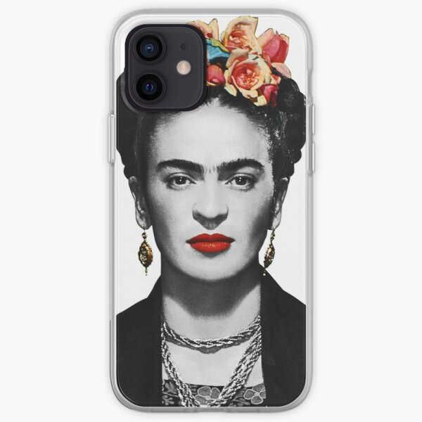 Frida Kahlo Portrait Black And White iPhone Soft Case