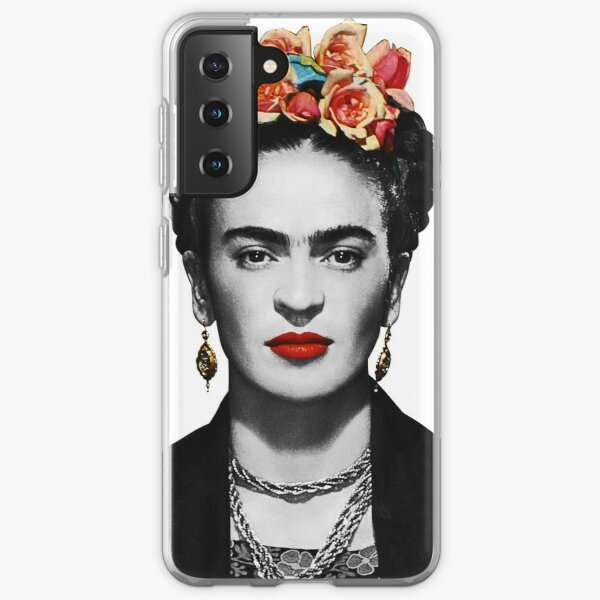 Frida Kahlo Portrait Black And White Samsung Galaxy Soft Case