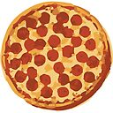 Pizza Eating Illustration Gift Idea Greeting Card By Chillions Redbubble