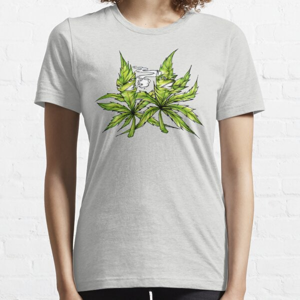 Best Buds Cannabis Friends Weed BFF Smoking Hemp Essential T-Shirt