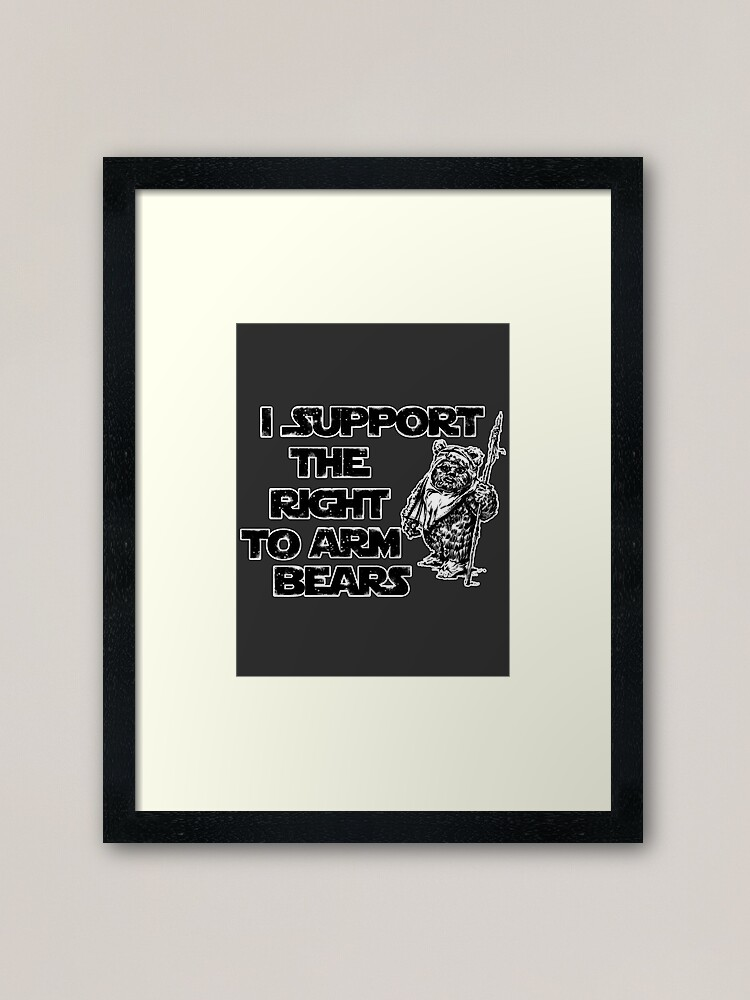 Alternate view of I Support the Right to Arm Bears Framed Art Print