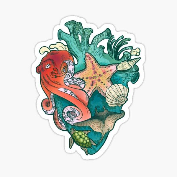 My Heart Belongs To The Ocean #4 Sticker