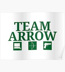 Team Arrow - Symbols w/ Text - Weapons Poster