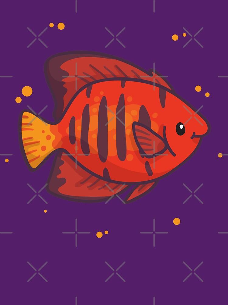 Flame Angelfish (Huevember 2018) by bytesizetreas