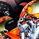 Orange Chopper Top by Lorin Richter
