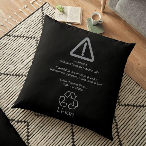 Bulging Lithium Ion Battery Warning Floor Pillow