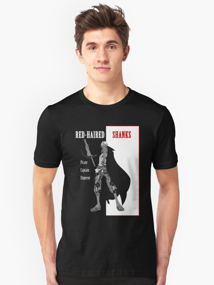 Red-Haired Shanks (scarface parody) Unisex T-Shirt Front