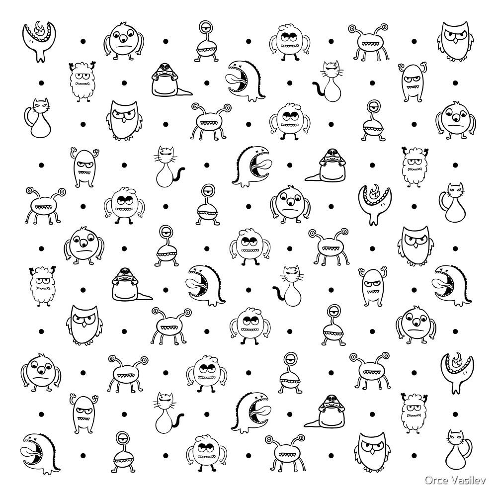 Monster Cuties by Orce Vasilev