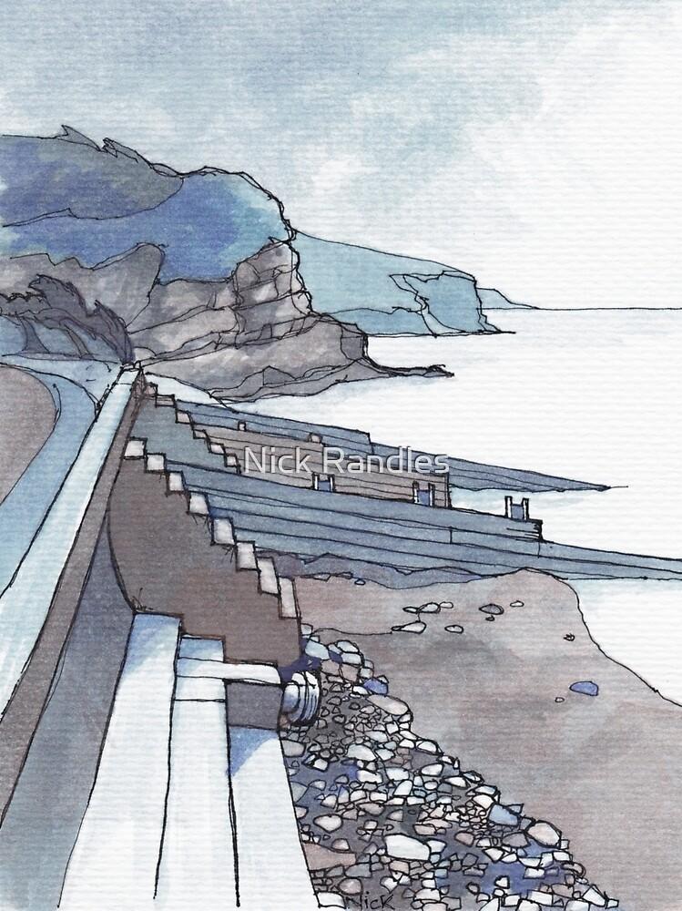 Sea Wall at Amroth by Nick Randles