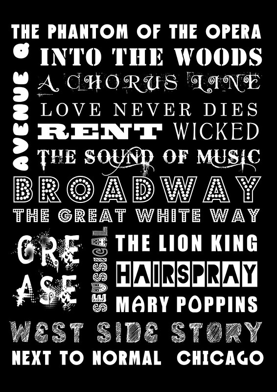 quotbroadway posterquot posters by greenstonetype redbubble