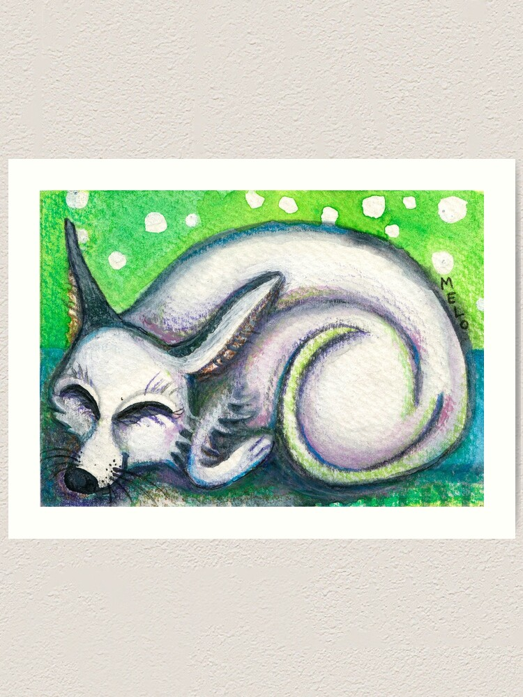 Alternate view of White Rescued Dog Art Print