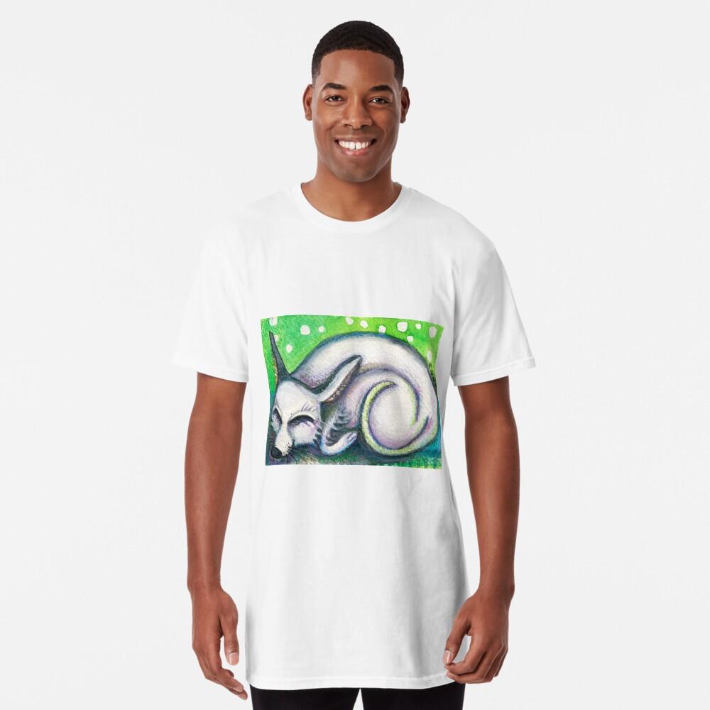 White Rescued Dog Long T-Shirt