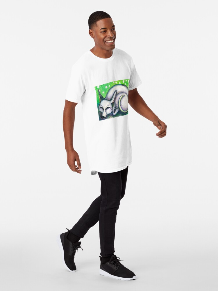 Alternate view of White Rescued Dog Long T-Shirt