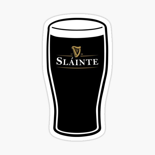 Slainte Irish Drink Sticker