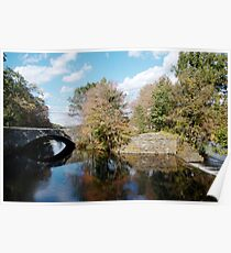 Stone Bridge in Autumn Poster