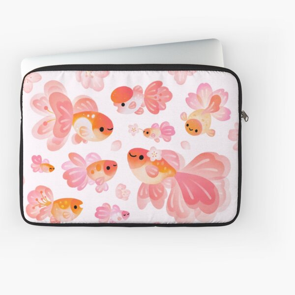 Cherry Blossom Goldfish 2 Funda para portátil