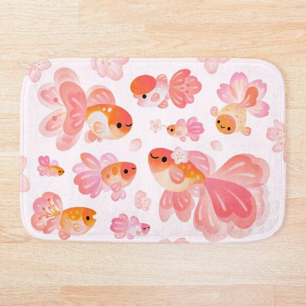 Cherry Blossom Goldfish 2 Bath Mat